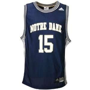 adidas Notre Dame Fighting Irish #15 Navy Replica Basketball