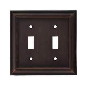 allen + roth Oil Rubbed Bronze Standard Toggle Wall Plate 32306SLBLG