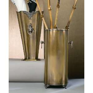 Dessau Antique Brass & Silver Umbrella Stand Patio, Lawn