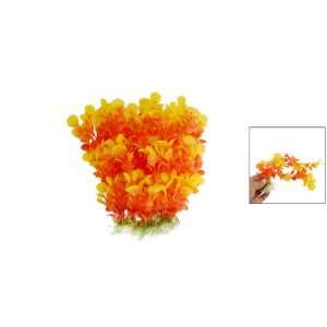 Yellow Orange Aquarium Plants Fish Tank Decor Ornament Pet Supplies