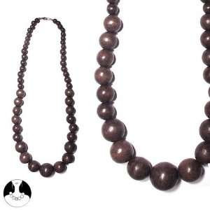 Necklace Wood 60 Cms Brown M Fonc/Choc/Smok Top Necklace Necklace