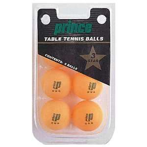 Prince® 3 Star Orange Table Tennis Ball 6 Pack
