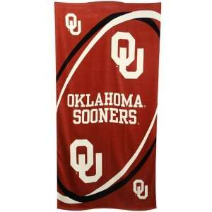 Oklahoma Sooners NCAA Beach/Bath 30X60 Towel Sports & Outdoors