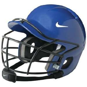 NIKE Show Batting Helmet With Cage And Chin Strap ROYAL ONE SIZE FITS