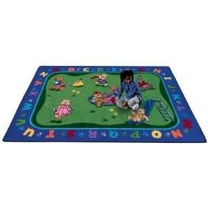 Joy Carpets Teddy Bear Playground Kids Area Rug, 3 ft. 10