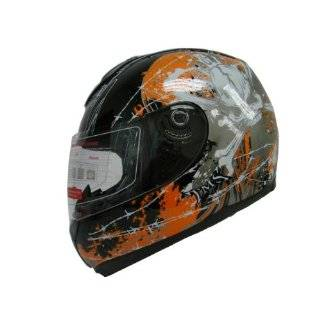 Bones Full Face Motorcycle Street Sport Bike Helmet DOT (Small