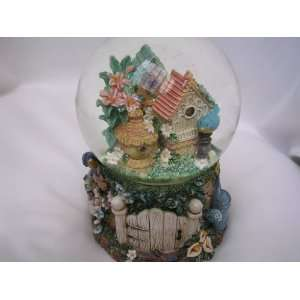Gardening Birdhouses Water Snow Globe 6 Collectible ; A Kiss is Still