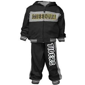 Missouri Tigers Toddler Black Triumph Full Zip Hoody and Sweatpant Set