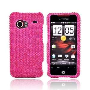 For HTC Droid Incredible Bling Hard Case HOT PINK Gems