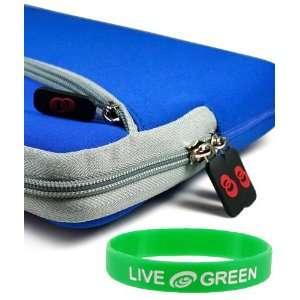 17 Inch Laptop Sleeve Slipcase   Dual Pocket   Dark Blue Electronics