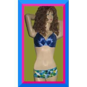 Secret $43 Blue Second Skin Satin 38C Bra Set Everything Else