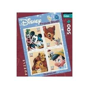 of Disney   Friendship Postage Stamp Jigsaw Puzzle 500pc Toys & Games