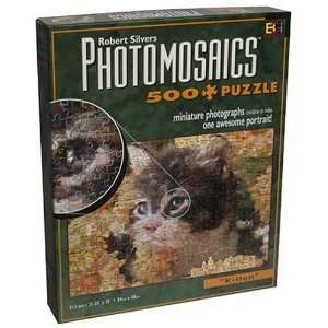 Photomosaic 500 piece Jigsaw Puzzle Kitten Toys & Games