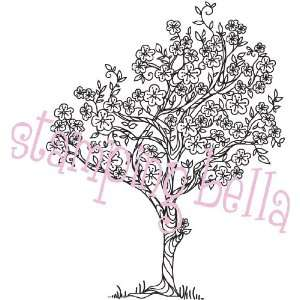 Rubber Stamp Lulus Cherry Blossom Tree Arts, Crafts & Sewing