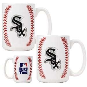 Chicago White Sox Game Ball Ceramic Coffee Mug Set