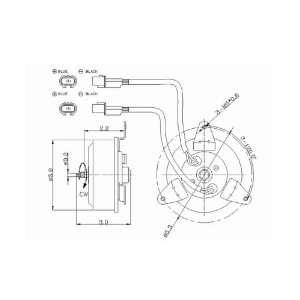Chrysler Replacement Radiator/Condenser Cooling Fan Motor Automotive
