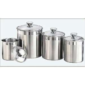 Tramontina Premium 18/10 Stainless Steel 4 Piece Covered Canisters