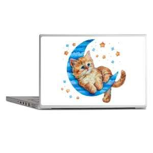 Laptop Notebook 14 Skin Cover Moon Kitten with Stars