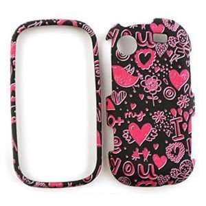 Samsung Messager R630 Pink Hearts on Black Hard Case/Cover