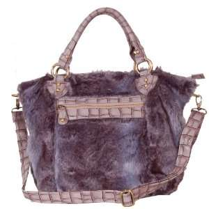 Faux Leather Fur with Crocodile Winter Collection Design Women Handbag