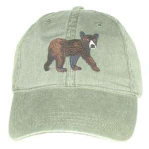 Black Bear Cub Embroidered Cotton Cap Patio, Lawn & Garden