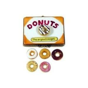 Half Dozen Donuts in Carton Authentic French Limoges Box