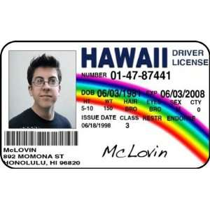 Popscreen Id Custom Drivers Mclovin License Card Hawaii On
