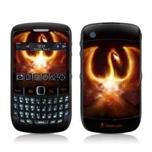 Fire Dragon Design Skin Decal Sticker for Blackberry Curve