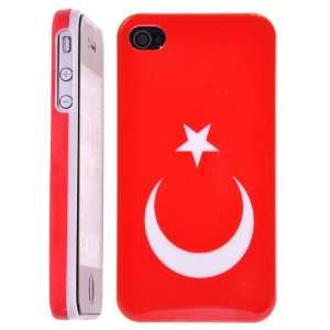 Flag of Turkey Pattern Hard Case Cover for iPhone4 4G