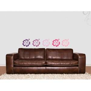 Wall Sticker Decal Heart Hibiscus Flower 20cm   (m2)
