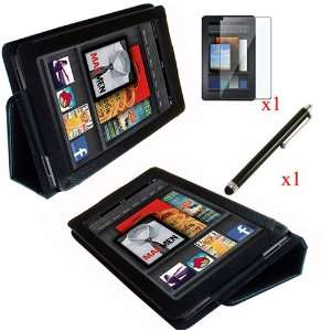 PU Leather Folio Stand Case Cover for  Kindle Fire 7 Tablet