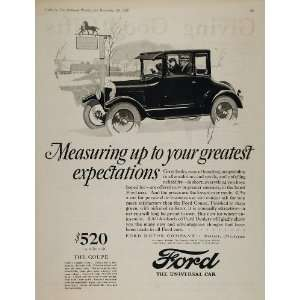 1925 ORIGINAL Ad Green Ford Model T Coupe Vintage Car