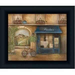 Paulette Cafe French Street Scene Decor Print Framed