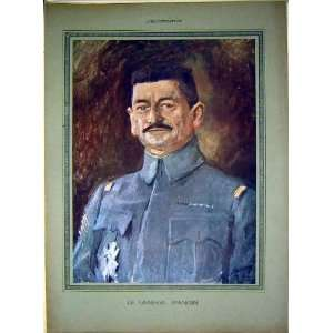 Portrait General Mangin Military French Print 1917 Home