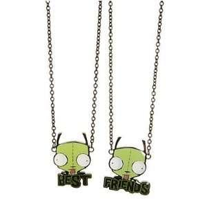 Invader Zim Gir Best Besties BFF Friends Necklaces Toys & Games