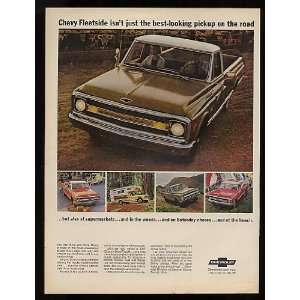 1969 Chevy Fleetside Pickup Truck Print Ad (10962)