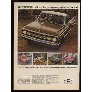 1969 Chevy Fleetside Pickup Truck Print Ad (10962)