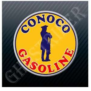Conoco Gasoline Gas Pump Station Vintage Phillips Sticker