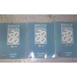 Shop Manual Set 00 FACTORY OEM BOOK NEW (3 volume set) gm Books