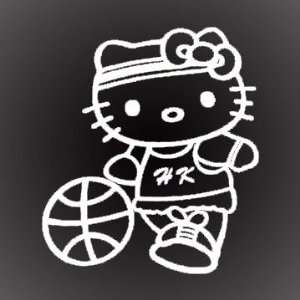 HELLO KITTY BASKETBALL DECAL STICKER 6X5