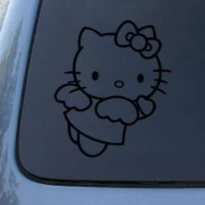HELLO KITTY ANGEL   Vinyl Decal Sticker #A1401  Vinyl Color Black