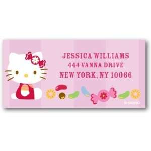 Return Address Labels   Hello Kitty Colorful Candies By