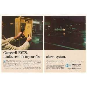1975 Gamewell EVCS Fire Alarm System 2 Page Print Ad: Home & Kitchen