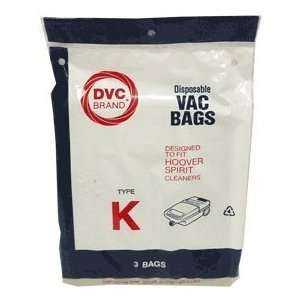 Type K Hoover Vacuum Cleaner Replacement Bag (3 Pack