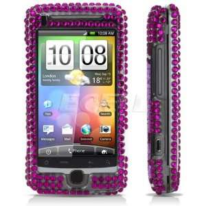 PURPLE SKULL CRYSTAL BLING CASE COVER FOR HTC DESIRE Z Electronics