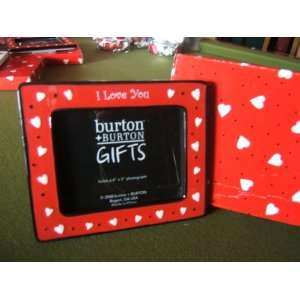 Love You Picture Frame Red & Black with Hearts