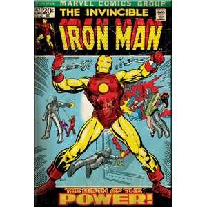 Iron Man Comic Cover    Marvel Comics Magnet Toys & Games