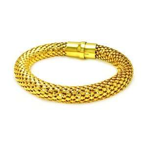 10MM Sterling Silver Italian Bracelets Beaded Style Gold Plated Magnet