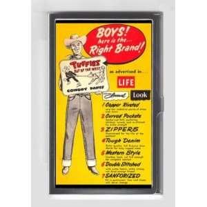 JEANS COWBOY WESTERN BOY 1950s RETRO AD Credit/Business Card Case USA