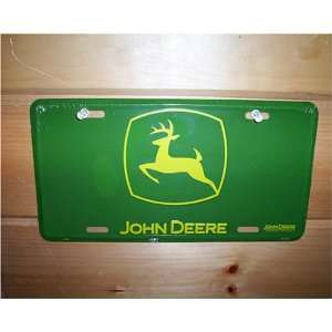 EMBOSSED JOHN DEERE LICENSE PLATE SIGN: Automotive